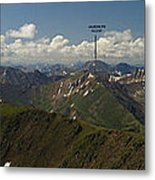 A Summit View Panorama With Peak Labels Metal Print