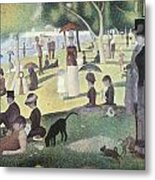A Sunday Afternoon On The Island Of La Grande Jatte Metal Print by George-Pierre Seurat