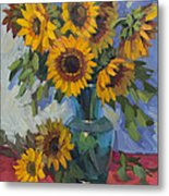 A Sunflower Day Metal Print