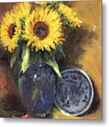 A Sunflower Smile Metal Print