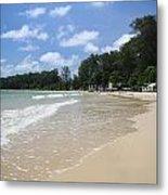 A Sunny Day On Nai Yang Beach Phuket Island Thailand Metal Print