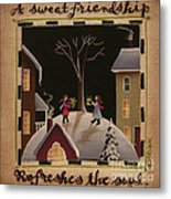 A Sweet Friendship  Winter Metal Print by Catherine Holman
