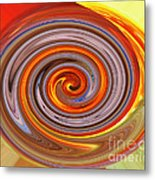A Swirl Of Colors From The Sun And Earth Metal Print