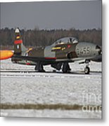 A T-33 Shooting Star Trainer Jet Metal Print