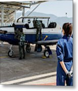 A T-6 Texan Trainer Of The Hellenic Air Metal Print