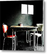 A Table For Two Metal Print