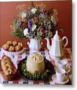 A Table Of Pastries Metal Print
