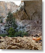 A Tent Pitched In A Large Alcove Metal Print