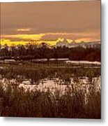 A Teton Dawn In Spring Metal Print