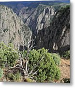 A Thunderstorm Is Approaching Over The Black Canyon Metal Print