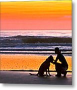 A Time To Bond Metal Print