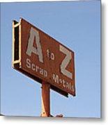 A To Z Metal Print