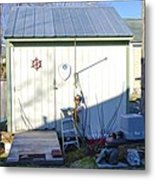 A Tool Shed In The Back Yard Metal Print