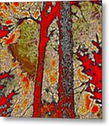 A Touch Of Autumn Abstract V Metal Print