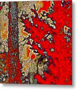 A Touch Of Autumn Abstract Vii Metal Print