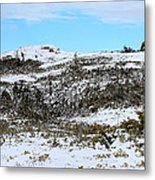 A Touch Of Blue Panorama Metal Print