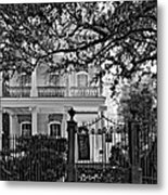 A Touch Of Class Monochrome Metal Print