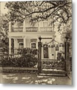 A Touch Of Class Sepia Metal Print