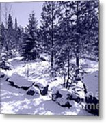 A Touch Of Snow In Lavender Metal Print