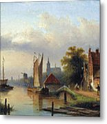 A Town By The River Metal Print