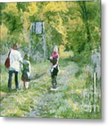 A Trip To The Woods Metal Print