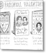 A Triptych Of Parental Valentines Day Cards That Metal Print