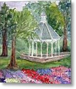 A Turn About The Garden Metal Print