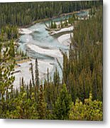 A Turn In The Bow River Metal Print