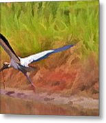 A Twig For Her Nest Metal Print