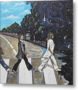 A Twist On Abbey Road By Erik Franco.  Metal Print