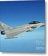 A Typhoon Aircraft From 29 Squadron Royal Air Force Metal Print