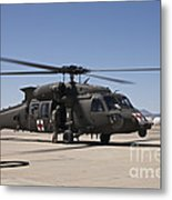 A Uh-60 Blackhawk Helicopter Metal Print