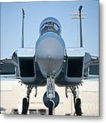 A U.s. Air Force F-15d Eagle Taxis Metal Print