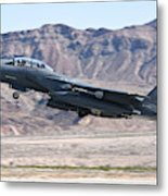 A U.s. Air Force F-15e Strike Eagle Metal Print