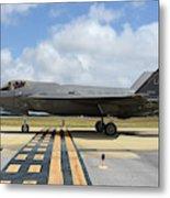 A U.s. Air Force F-35a Taxiing At Eglin Metal Print