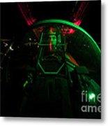 A U.s. Air Force Pilot Sits Metal Print