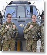 A U.s. Army All Female Crew Metal Print
