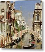 A Venetian Canal  Metal Print