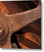 A Very Rusty Steering Wheel Metal Print