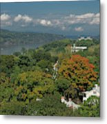 A View From The Hudson River Walkway Metal Print