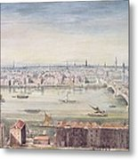 A View Of London From St Pauls To The Custom House, 1837 Metal Print