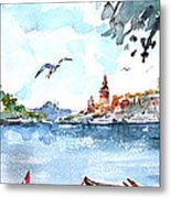A View Of The Historical Peninsula From Uskudar - Istanbul Metal Print