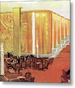 A View Of The Luxurious And Spacious Metal Print