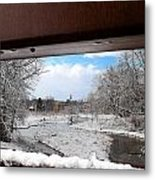 A View Of The Maunesha In A Fresh Blanket Of Snow Metal Print