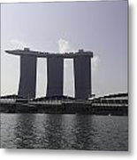 A View Of The Three Towers Of The Marina Bay Sands In Singapore Metal Print