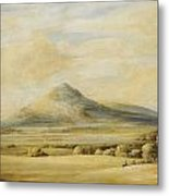 A View Of The Wrekin In Shropshire Going From Wenlock To Shrewsbury Metal Print
