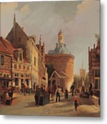 A View Of The Zuiderspui Metal Print