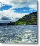 A View Of Urquhart Castle From Loch Ness Metal Print