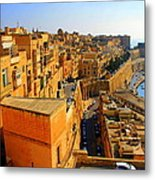 A View Of Valletta's Waterfront Metal Print