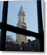 A View Out Of Faneuil Hall Metal Print